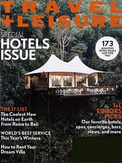 Travel + Leisure Cover - Four Seasons Tented Resort Golden Triangle