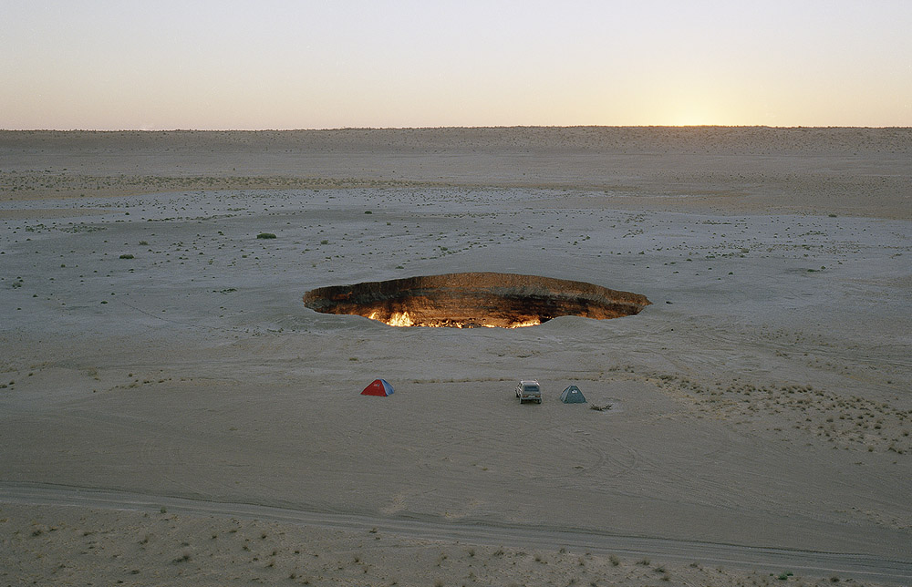 Flaming Gas Crater In Darvaza Turkmenistan 171 Andrew Rowat