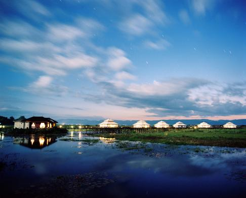 The spa at the Aureum Resort and Spa on Inle Lake, Myanmar.
