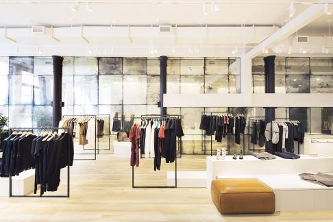 The flagship store for fashion brand Maiyet at 16 Crosby Street, New York City.