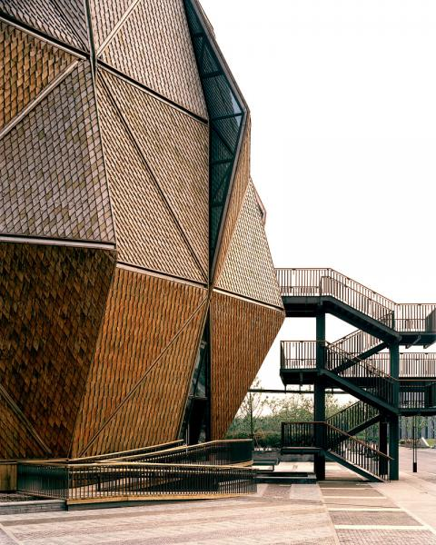 One of the many innovative architectural projects in Qingpu, China.
