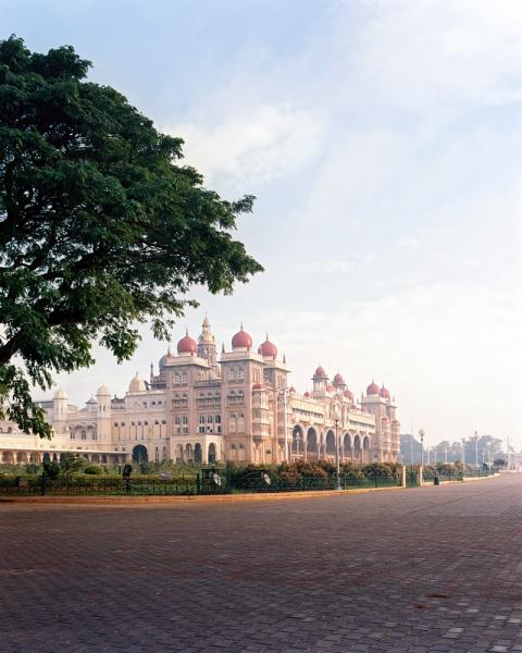 The beautiful Mysore Palace in Karnataka Province, India.