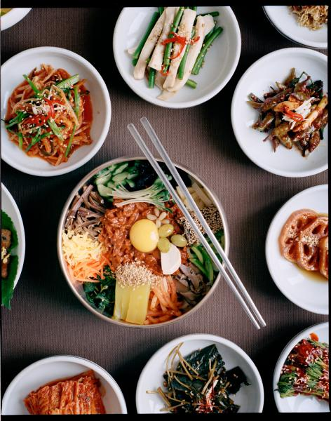 Gajok Hwegwan, a well-known bibimbap restaurant, located in the birthplace of Bibimbap, Jeonju.