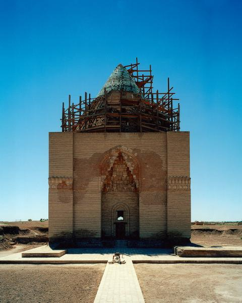 The Soltan Tekeş Mausoleum in Konye Urgench, Uzbekistan.