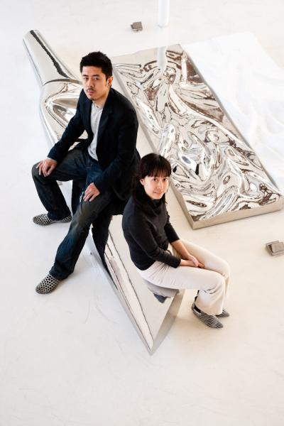 MAD Architecture Partners Ma Yansong and Yosuke Hayano at their Beijing offices in China. MAD has projects throughout China, Europe, and North America.
