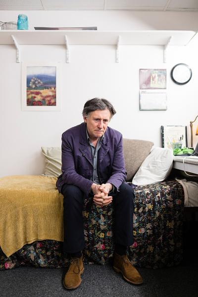 Actor Gabriel Byrne at the American Airlines Theater on Sunday May 22nd, 2016. Byrne is appearing alongside actress Jessica Lange in the Broadway staging of Eugene O'Neill's masterpiece