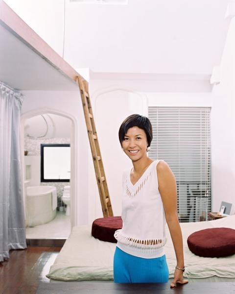 Star architect Delphine Yip at her home in Shanghai, China.