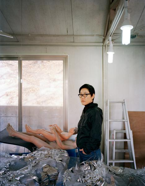 Korean artist Lee Bul at her studio in Seoul.