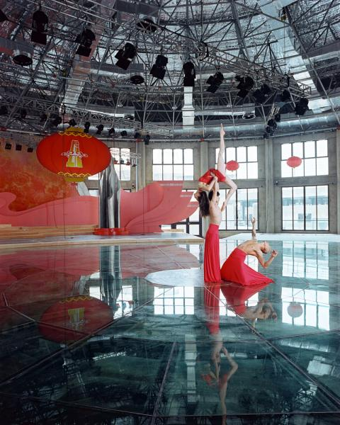 Dancers from Shanghai's Jazz du Funk performing in the 1933 performance space. The building was constructed to serve as an abattoir in the 1930s, but has since been repurposed into a mixed art and commercial space on the North Bund district of Shanghai.