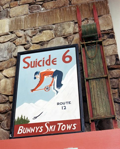 The ski lodge at the base of Suicide Six Ski Area, in Woodstock Vermont.