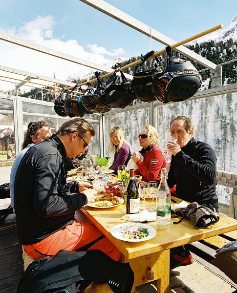 Located in the hamlet of Findeln, Findlerhof restaurant is absolutely equisite on-mountain dining courtesy of Franz and Heidi. The view from 2051m is equalled only by the food.